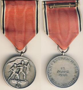 """Медаль """"В память 13 марта 1938"""""""