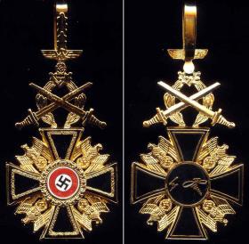 Германский орден 1-го или 2-го класса с мечами (реплика)