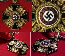 Германский орден с золотыми дубовыми листьями. (Подлинный, из частной коллекции)