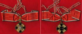 Германский орден с золотыми дубовыми листьями. (Подлинный, из частной коллекции) Общий вид с лентой