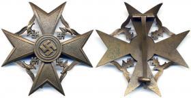 Испанский крест в бронзе без мечей