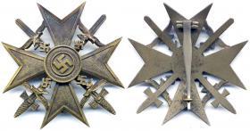 Испанский крест в бронзе с мечами
