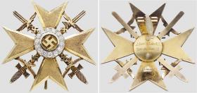 Испанский крест в золоте с бриллиантами принадлежавший фельдмаршалу Шперле