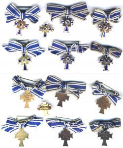 Варианты миниатюр Креста немецкой матери для повседневного ношения
