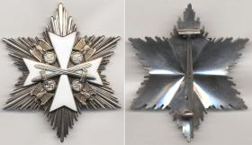 Нагрудная звезда к Ордену немецкого Орла 2-го класса с мечами (частная коллекция)