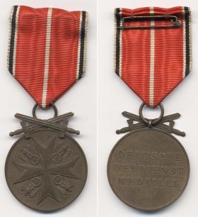 Медаль Ордена немецкого Орла, в бронзе, с мечами