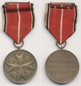 Медаль Ордена немецкого Орла, в бронзе, без мечей