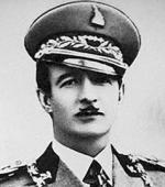 Ахмет Зогу в генеральской фуражке образца 1936 года