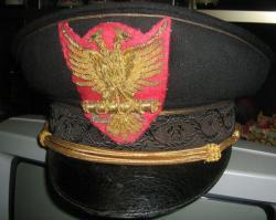 Фуражка министра-секретаря Албанской фашистской партии периода итальянской оккупации (фуражка - оригинал, кокарда перешита).