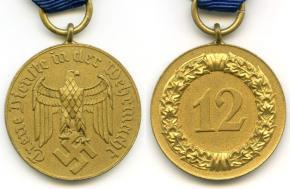 """Медаль """"12 лет выслуги в Вермахте"""""""