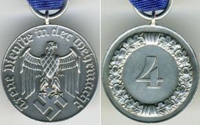 """Медаль """"4 года выслуги в Вермахте"""""""