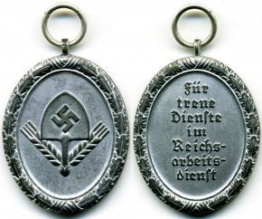 """Медаль """"За 8 лет года выслуги в RAD"""" (мужской вариант)"""