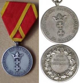 Медаль Торгово-промышленной палаты Данцига: «Для постоянных сотрудников»