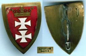 Данцигский щит за верную службу вольному городу Данциг (второй тип, частная коллекция в Польше)