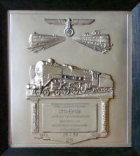Наградная плакетка за 25 лет выслуги 1939 года, выдана в Дюссельдорфе (Düsseldorf)