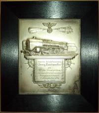 Наградная плакетка за 25 лет выслуги 1940 года