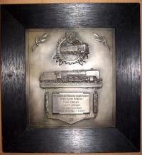 Наградная плакетка за 25 лет выслуги 1933 года, выдана в Росслау (Rosslau - Земля Саксония-Анхальт)