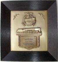 Наградная плакетка за 25 лет выслуги 1937 года, нового образца, выдана в Нойштадте (Neustadt) (в рамке)