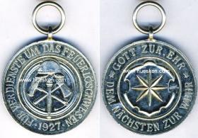 Почетная медаль пожарного свободного государства Вальдек
