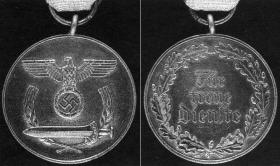 Медаль «За верную службу в восточных регионах» (изображение из каталога Хартинга)