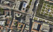 Спутниковый снимок части Мюнхена с площадью Одеонсплац