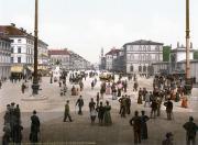 Одеонсплац, вид со стороны Фельдхеррнхалле. Открытка прибл. 1890—1905 гг. Вдалеке видна Арка Победы