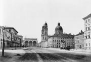 Одеонсплац, вид на Фельдхеррнхалле. Фотография 1891 года