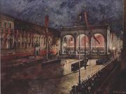 Картина художника П.Херманн «Празднование 9 ноября на Фельдхеррнхалле в Мюнхене» 1941год