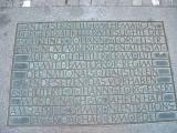 Мемориальная плита в честь Георга Эльзера на месте бывшего Бюргербройкеллера