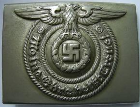 Пряжка нижних чинов СС исполненная в никелевом сплаве