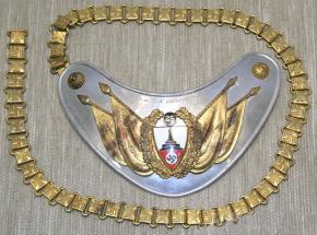 Горжет Знаменосца Deutscher Reichskriegerbund (DRKB) – (Немецкий союз ветеранов войны) 25 лет членства городского союза в составе имперского союза