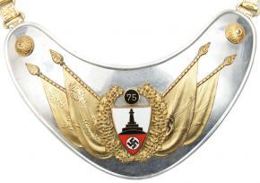 Горжет Знаменосца Deutscher Reichskriegerbund (DRKB) – (Немецкий союз ветеранов войны) 75 лет членства городского союза в составе имперского союза