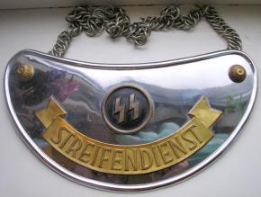 Горжет патрульной службы СС (Streifendienst -Ringkragen)