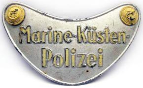 Горжет морской береговой полиции (Marine Kusten Polizei)