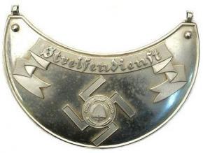 Горжет Streifendienst RAD (имперской трудовой службы)