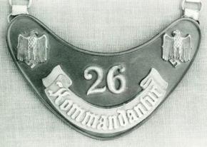 Горжет комендатуры второго типа с люминисцентной надписью
