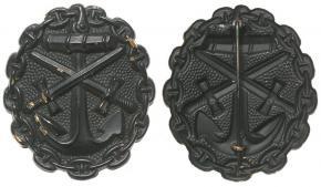 знак первой мировой войны за ранение, для моряков (черное)