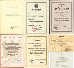 Нетиповые варианты наградных листов на знаки за ранение, как правило выдаваемые в боевых частях или в лазаретах
