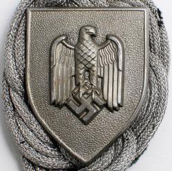 Щиток на общермейский  шнур (аксельбант) за отличную стрельбу (обр. 1936 года) степени 1-4
