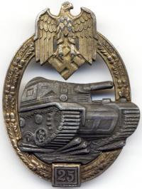 """Знак """"За танковое сражение"""" 25 сражений"""