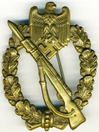 """Знак """"Пехотный Штурмовой"""" в бронзе"""