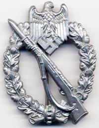 """Знак """"Пехотный Штурмовой"""" в серебре"""