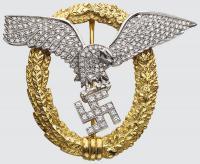 Знак «Пилот-наблюдатель» в золоте с бриллиантами, принадлежавший Отто Скорцени