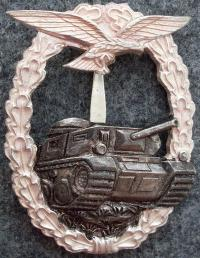 """Денацифицированная реплика знака """"За танковое сражение для Люфтваффе"""" для экипажей танков и ремонтников"""