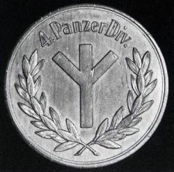 Памятная медаль 4-й роты 7-го танкового разведывательного подразделения 4-ой танковой дивизии.