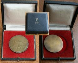 Памятная медаль 39-го противотанкового батальона. В коробке.