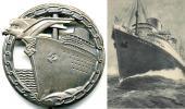 Трансатлантический лайнер «Бремен» послуживший прототипом корабля изображенного на знаке
