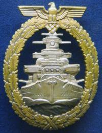 Боевой знак флота с бриллиантами (фото из музея ВМФ в Гамбурге)