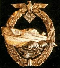 Военный знак для торпедных катеров с бриллиантами