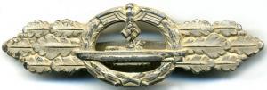 Серебрянная боевая планка подводников